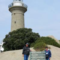 Bill and Peggy at Montague Island Light Station.