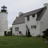 The Old Presque Isle Lighthouse is said to be haunted, although we did not encounter any spirits as we viewed the museum, tower and gift shop.