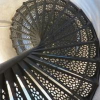 130 steps lead s the way to the top of New Presque Isle and into the lantern room
