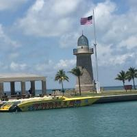 Boca Chita Lighthouse and Thriller Boat