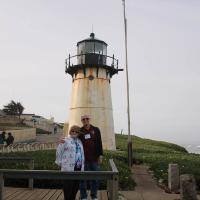 Marjie and Jerry at Point Montara Lighthouse