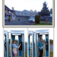 At Kalaloch Lodge, phone booths are alive and well.  Just ask Donna and Diane!