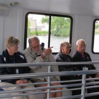 Carole, Dave, Patti & Steve waited for the boat to enter the bay before sailing over the shipwrecks.