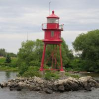 "Alpena Harbor light is far different from many taller, more attractive lighthouses.  It has been said that the Alpena Light is ""long on duty, short on beauty""."