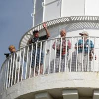 Marge, Bill, Esther and Anita enjoy the view atop Cape Schanck Lighthouse.
