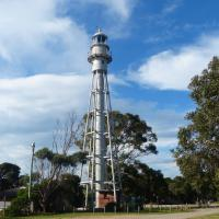 The Eastern Lighthouse also known as the South Channel Range Rear Light was prefabricated in England by Chance Brothers.