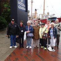 Bill, Peggy, Dorothy, Marjie, Jerry, Kathryn, Bunny, Lisa and Dick at Baltimore Harbor