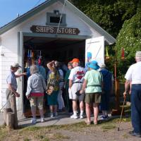 Looks like another crowded lighthouse gift shop! Of course passport stamps were there also!