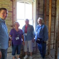 Patrick provided interesting and informative talk about how the lighthouse is being restored.  The lighthouse is located on Dow Chemical property.  The Saginaw Marine Historical Society is in the process of completely renovating the lighthouse.