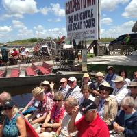 All ready on the Air Boats to the Everglades