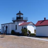 The lighthouse is also near the keeper quarters which is a vacation rental on one side and the USLHS headquarters on the other