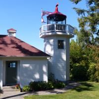 The entrance way to Skunk Bay Lighthouse in Hansville