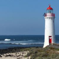 Griffiths Island Lighthouse is a pleasant quarter of a mile walk across the island.