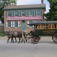 A morning  at the Henry Ford Museum and Greenfield Village was enjoyed.  Riding the carriage around the village was a great treat.