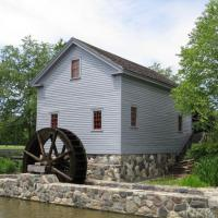 We visited the grain mill and watched the water wheel as it ground the grain into usable products.