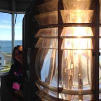 Megan, Joan, Lanie & Patt at the top of Block Island SE Lighthouse