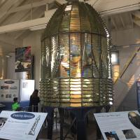 First Order Fresnel Lens on display at Pigeon Point