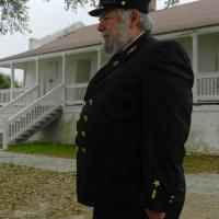 The Lighthouse Keeper meeting us at St Marks Lighthouse