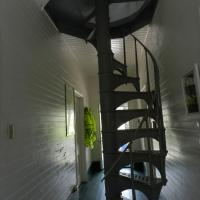 Stairway to the top of Cedar Key Lighthouse