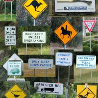 Some of the many Australian signs we saw along the way.