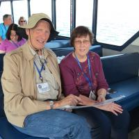 Gary and Kathleen enjoy a smooth ride in Duluth Harbor.