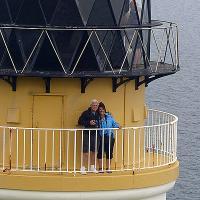 Bob & Cheryl atop Maughold Head.