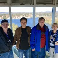 Jeremy, Jeff, Richard & Nancy at the Observatory