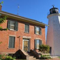 Tom Clayton and docents provided the history of Charlotte-Genesee Lighthouse and the town