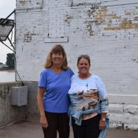 Wanda welcomes Carol when she joined our tour in Duluth Harbor.