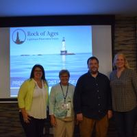 Heather, Marge, David and Rachel gave an excellent presentation of the work being done at Rock of Ages.