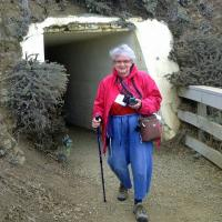 Darlene coming out of the Point Bonita tunnel