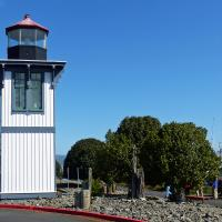 The Table Bluff Lighthouse tower located at the Woodley Island Marina.