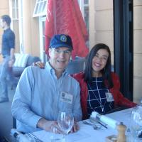 Larry and Luiza at Welcome Dinner