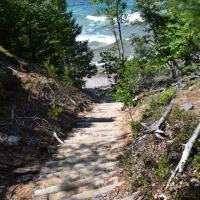 The path from Eagle Harbor Lighthouse down to Lake Superior was a challenge.