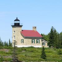 Copper Harbor Lighthouse is a short boat ride from the mainland.