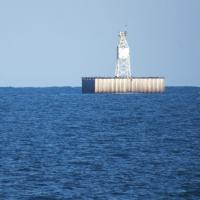 About a mile out in Lake Michigan is Racine Reef