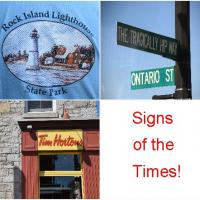 Signs of the times….although we NEVER did stop at Horton's