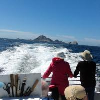 After having lunch in the shadow of the Farallon light, the return trip was much faster and smoother.