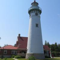 "Seul Choix Point Lighthouse (prounounced ""Sis-schwa"") means ""only choice"" meaning it was the only safe harbor for French traders."