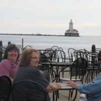 LaVon, Jerry and Marietta with Chicago Harbor Lighthouse in background