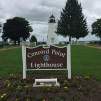 Concorde Point Lighthouse and sign