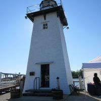 The Green Bay Yacht Club obtained ownership of the Grassy Island Range Lights and graciously opened both towers for us to climb.