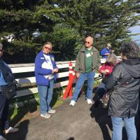 Docent Nancy and Jerry at Point Pinos