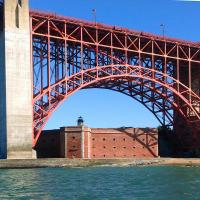 This is the third light at Fort Point to mark the south side of the entrance to San Francisco Bay.