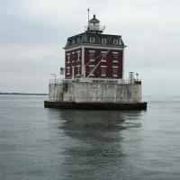 New London Ledge Lighthouse - we finally got perfect weather so we can dock and tour
