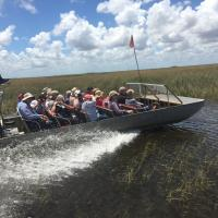 Boat 2 air boating through the Everglades
