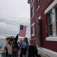 Al, Jeff, Carol and Leah at the New London Ledge Lighthouse