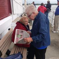 Dorothy and Jerry at the New London Ledge Lighthouse