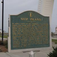 The Ship Island historical sign at Gulfport