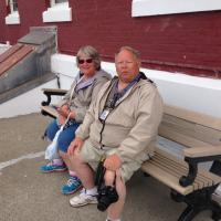 Patt and Shannon enjoying the perfect day at the New London Ledge Lighthouse